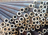 Seamless steel pipe for liquid conveyance